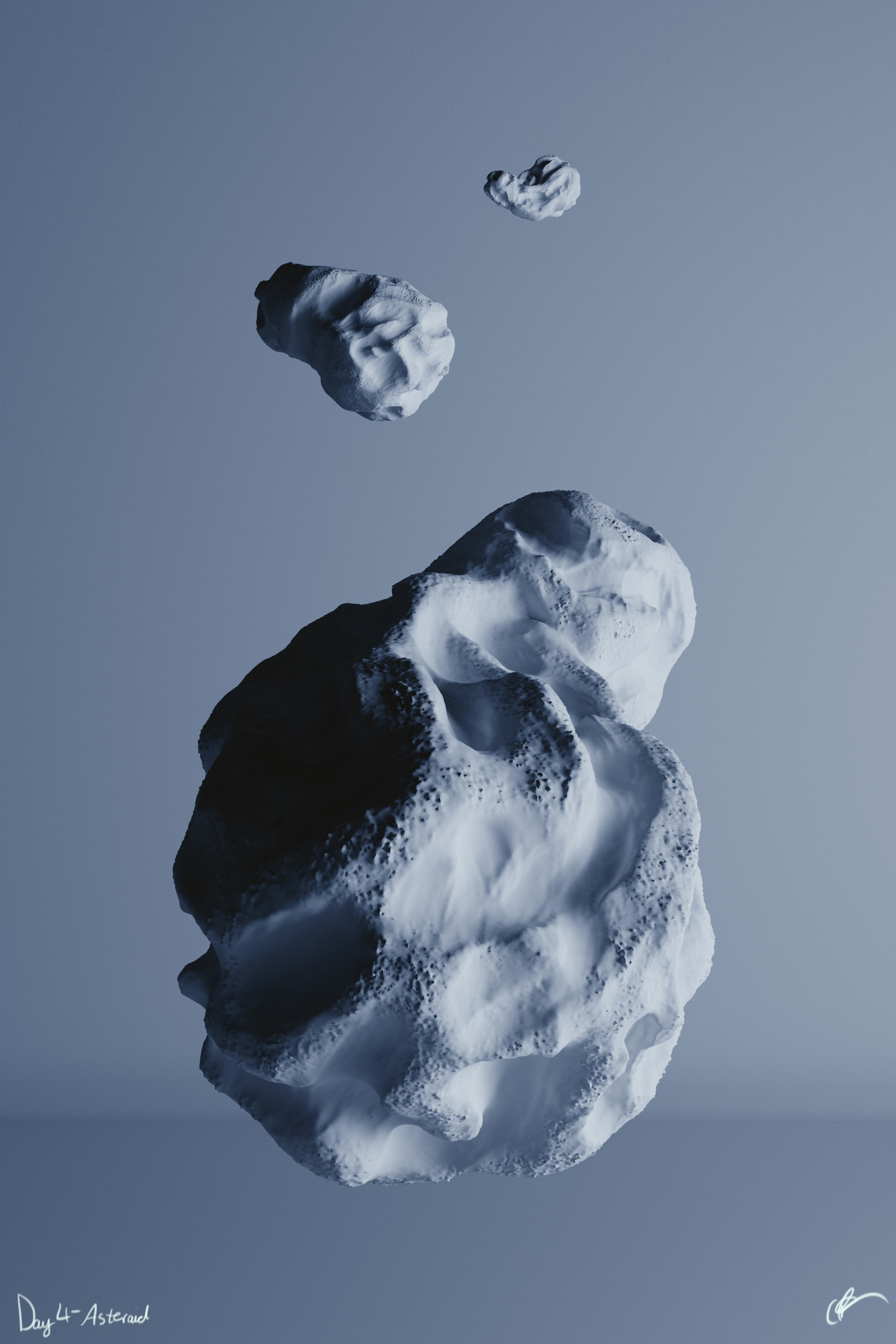 #SculptJanuary Day 4 - Asteroid