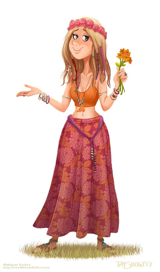 Michael dashow hippie woman 05 lazy gilly 530x900