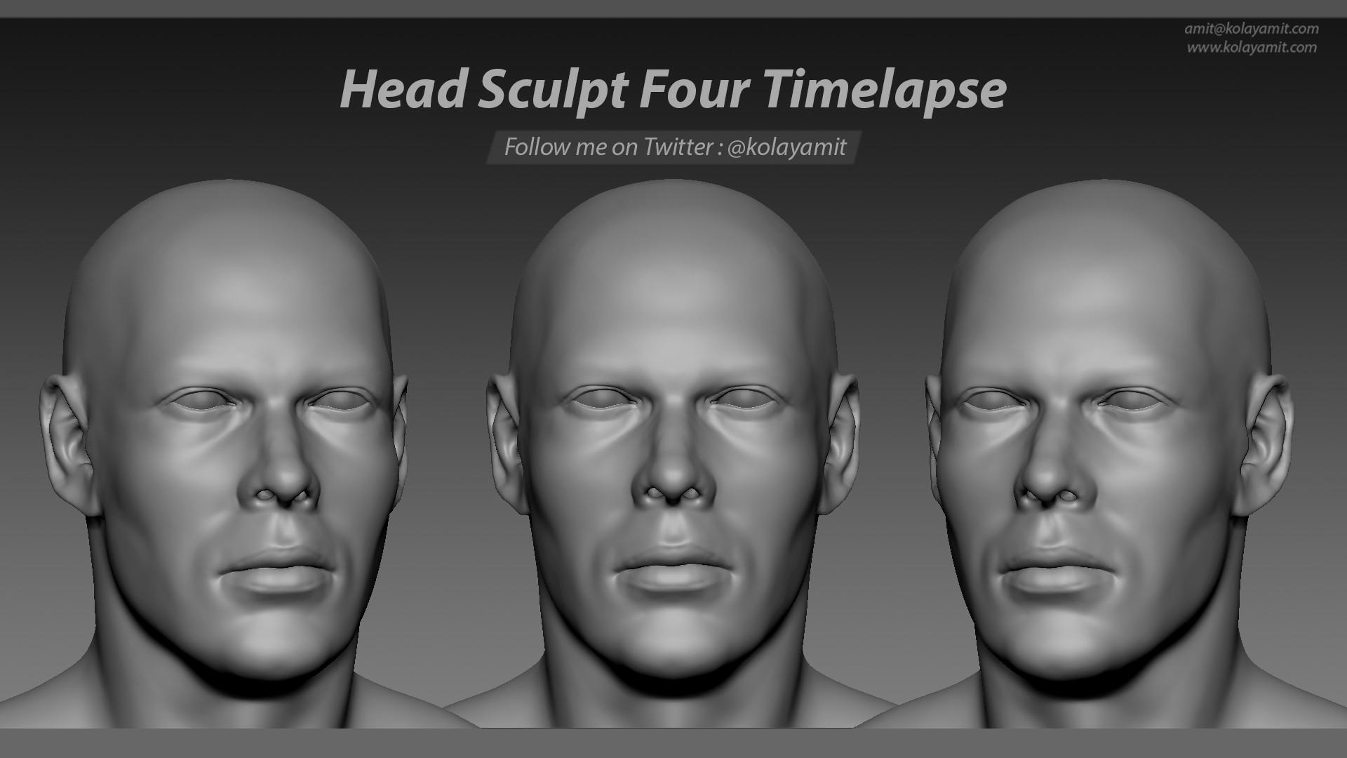 Head Sculpt Four Timelapse