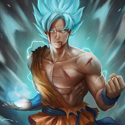Norman de mesa goku blue10