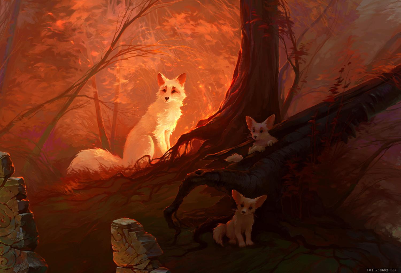 Alina ivanchenko red magic forest 100p 02