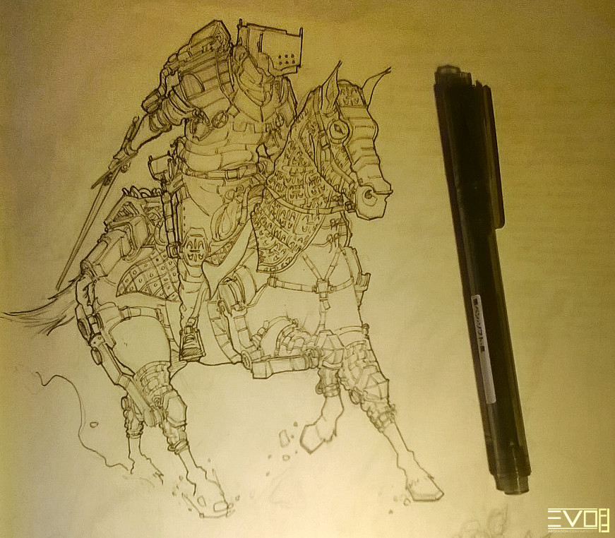 F f light cavalry sketch 01