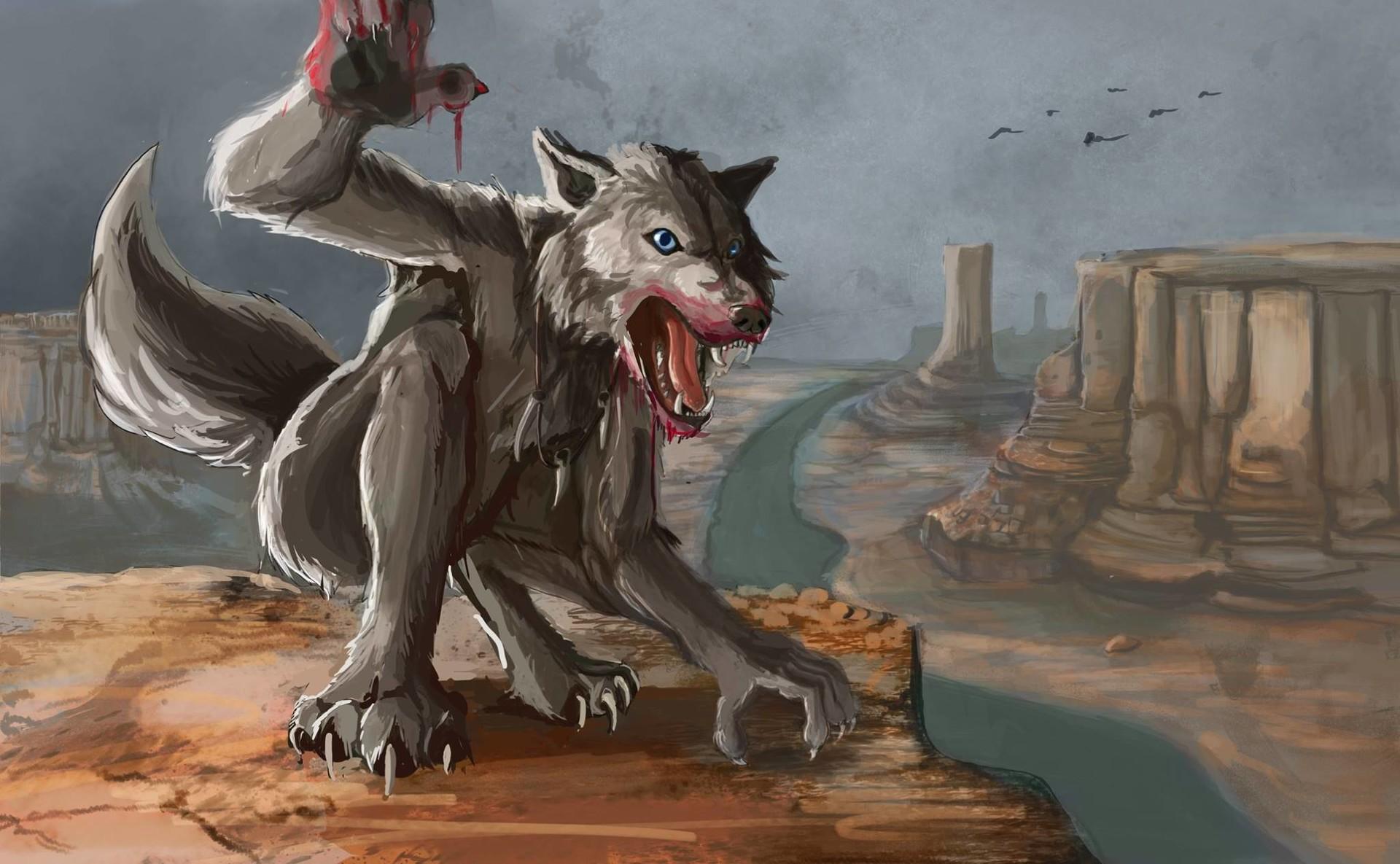 Robert sage bloodied werewolf