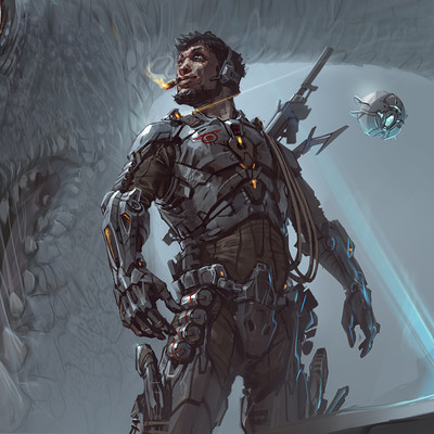 Sviatoslav gerasimchuk sci fi worier