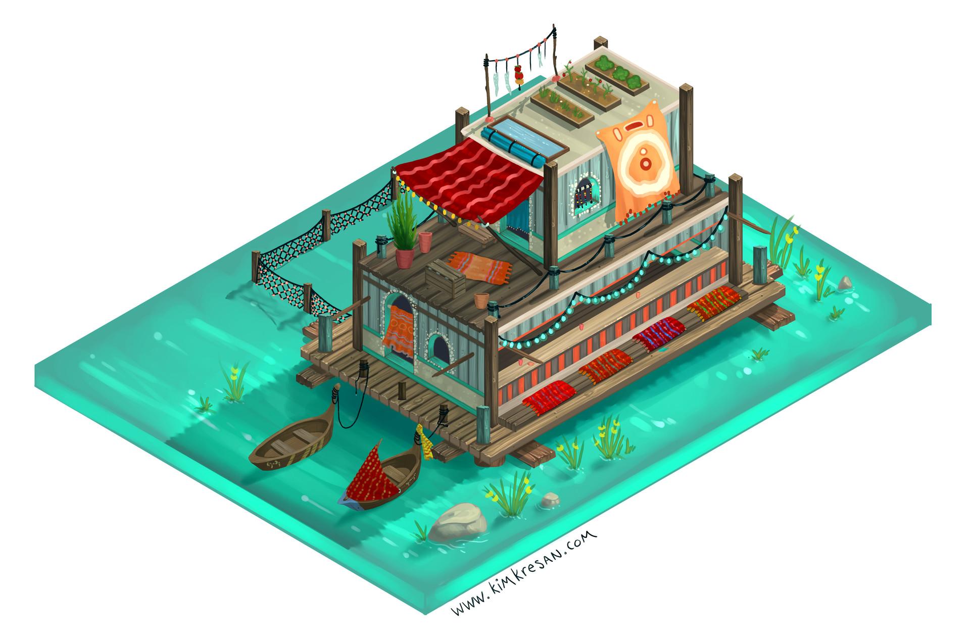 Kim kresan tide isometric eatery