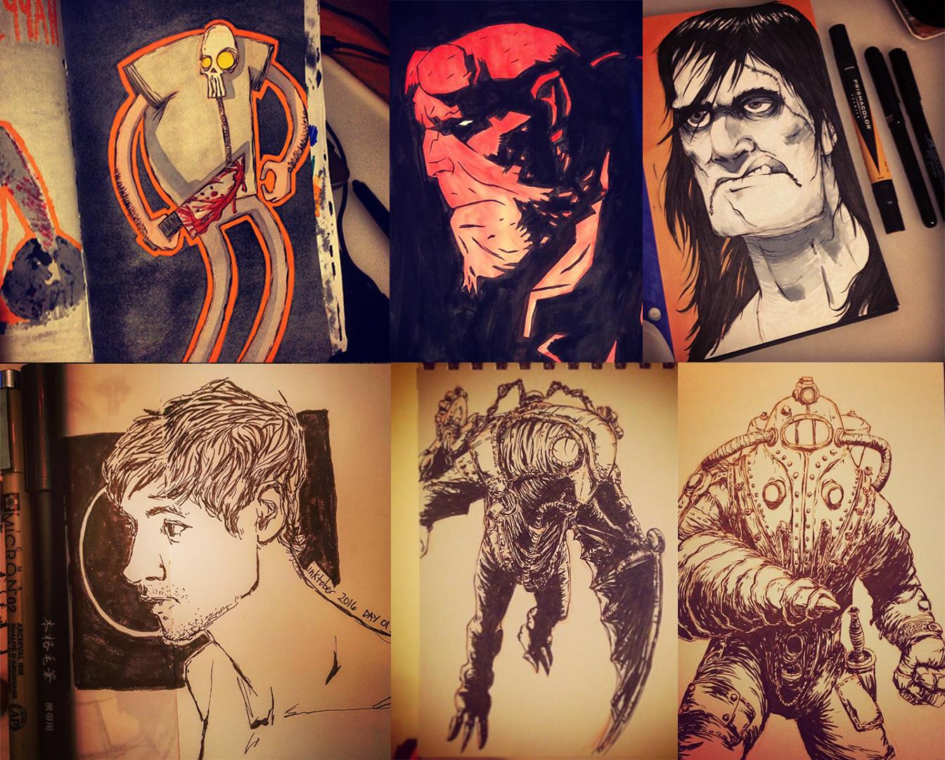 Austin balaich sketchbook drawings