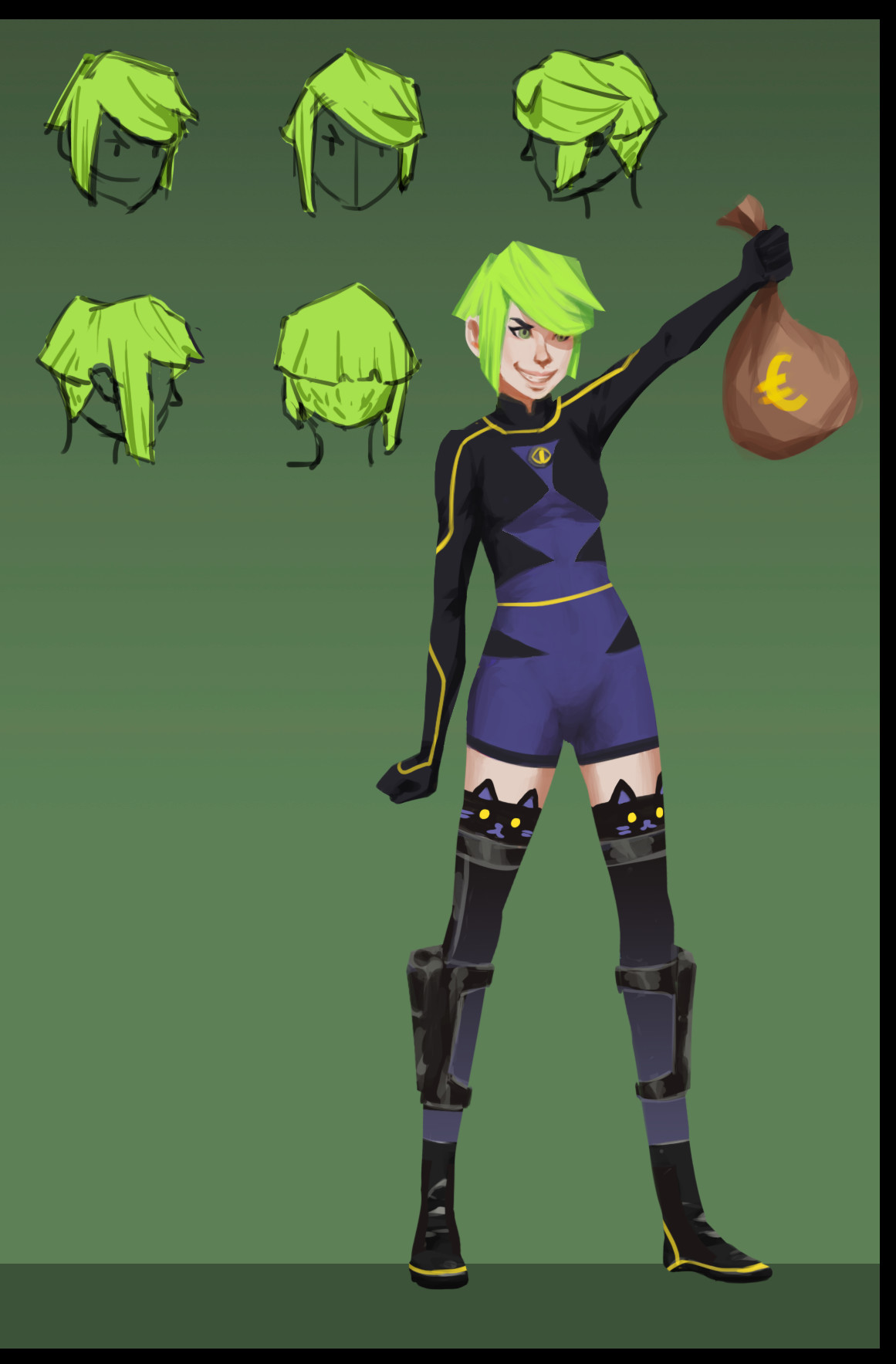 Rohan yang character concepts 02 fern hair