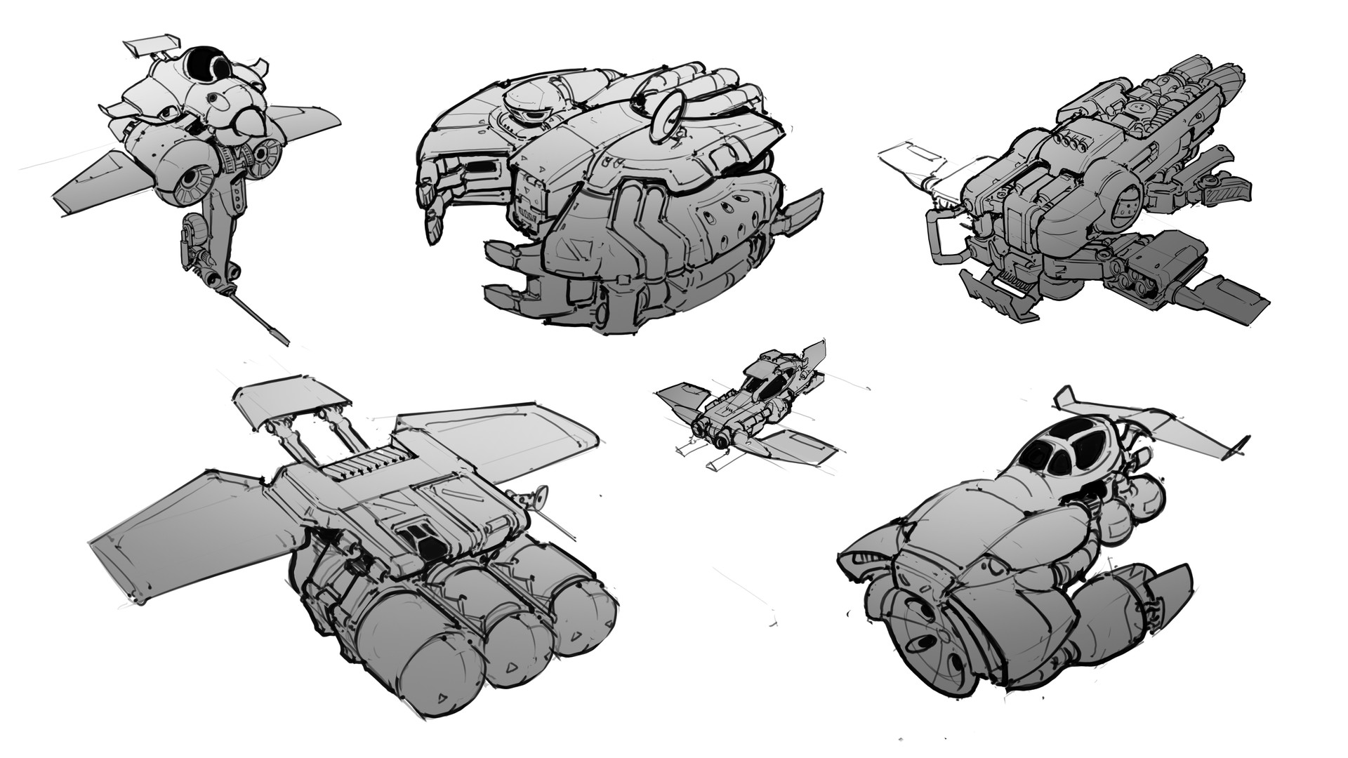 Samuel aaron whitehex ship blockout sketches
