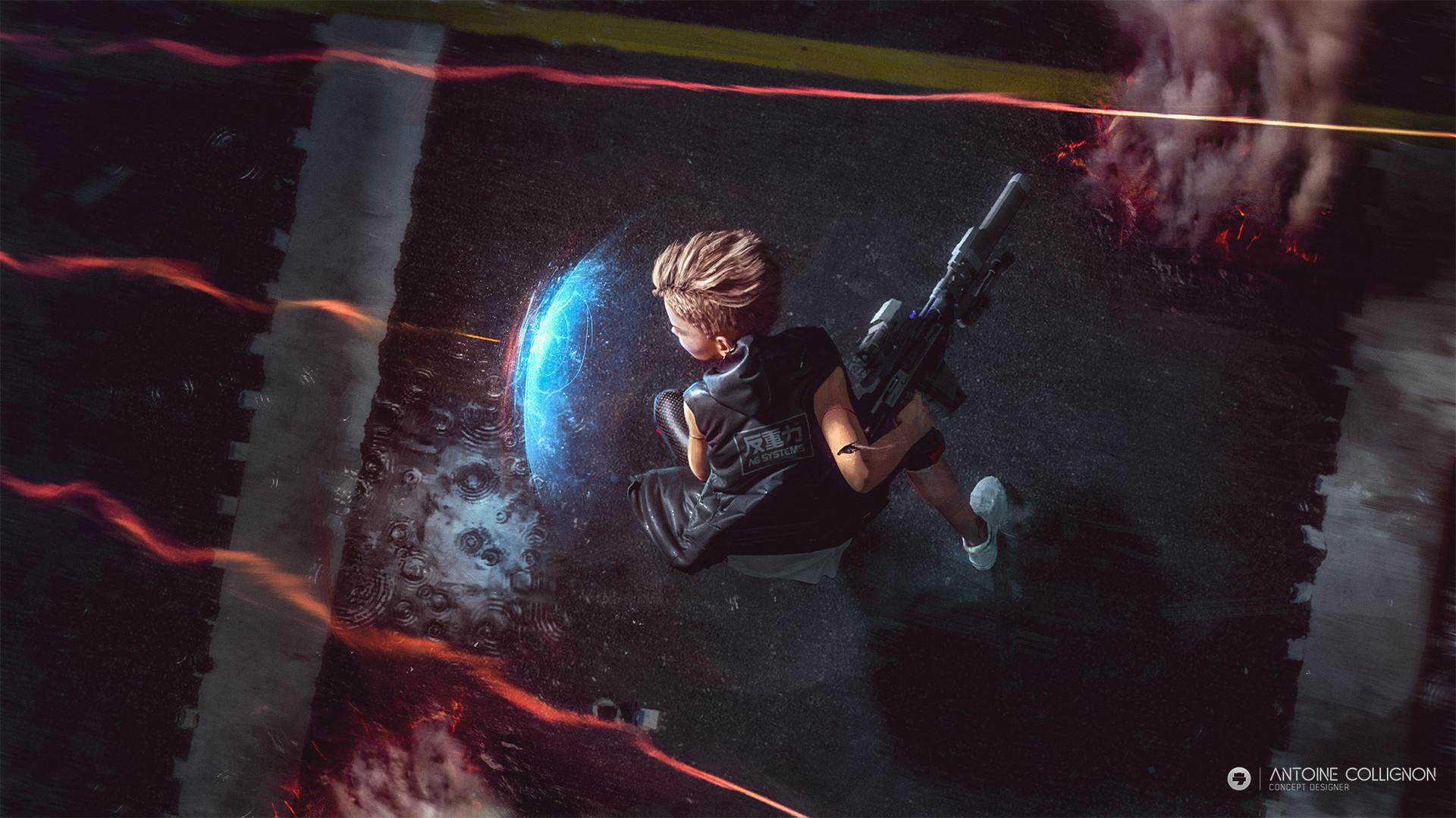 Teen cyborg (thug) - fight