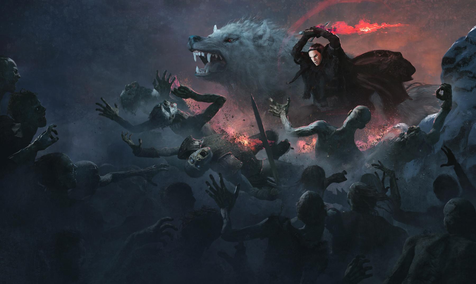 Jon Snow with Azor Ahai Sword