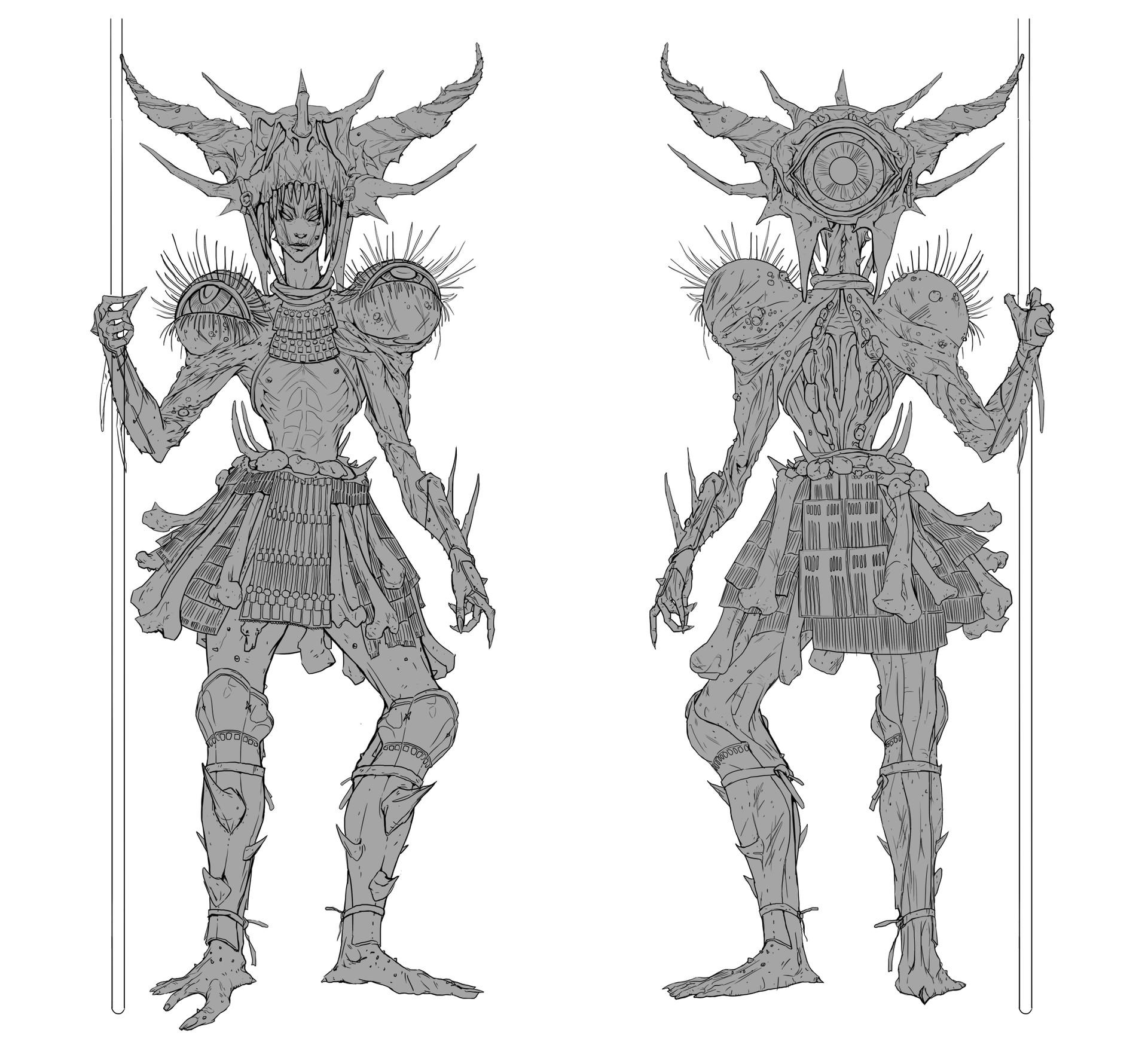 Quentin castel character line size portfolio