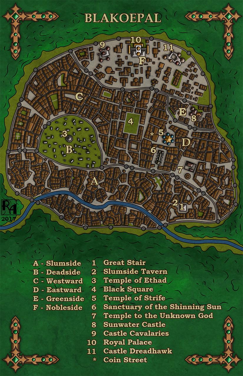 Robert altbauer black opal city map colour s