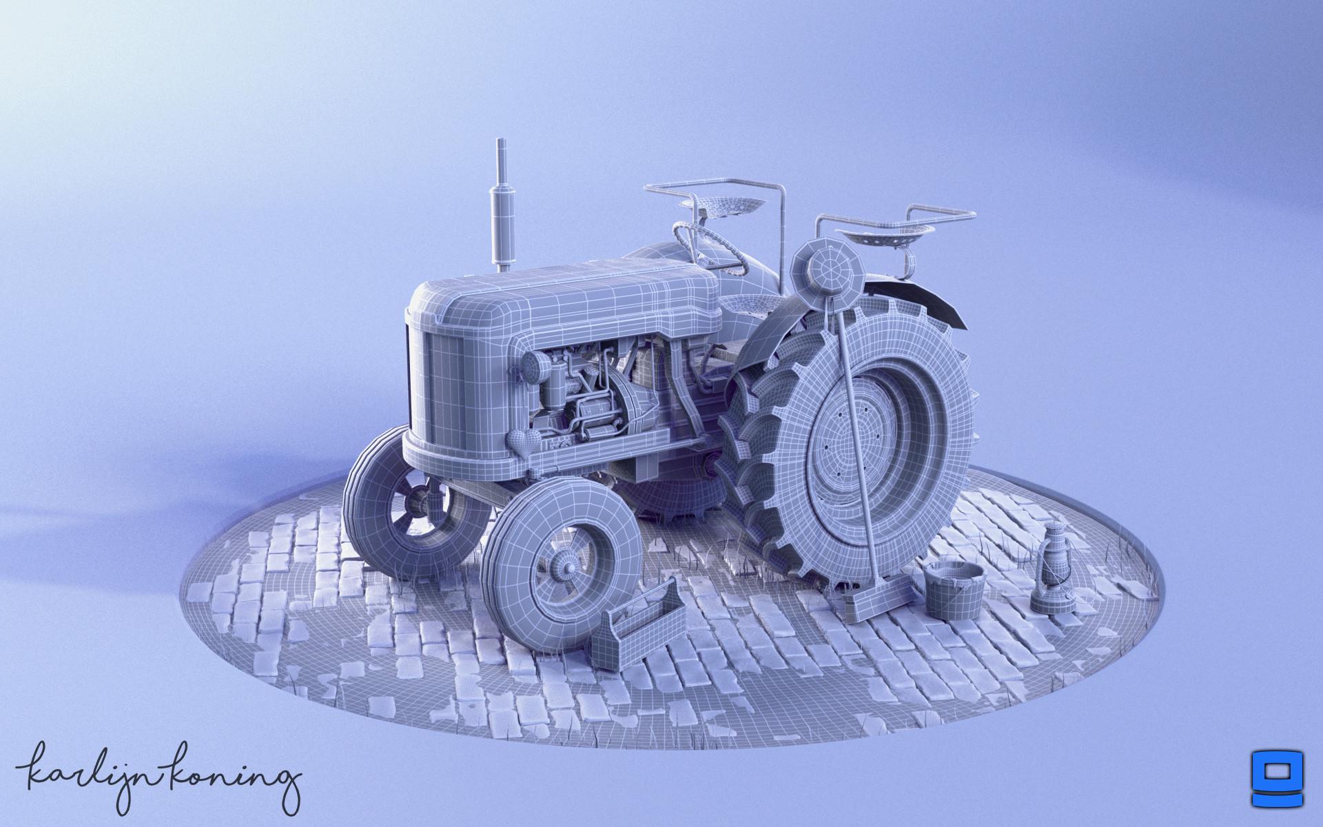Karlijn koning tractor wireframe