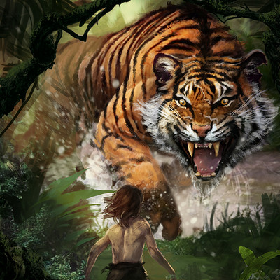 Karl lindberg shere khan and mowgli