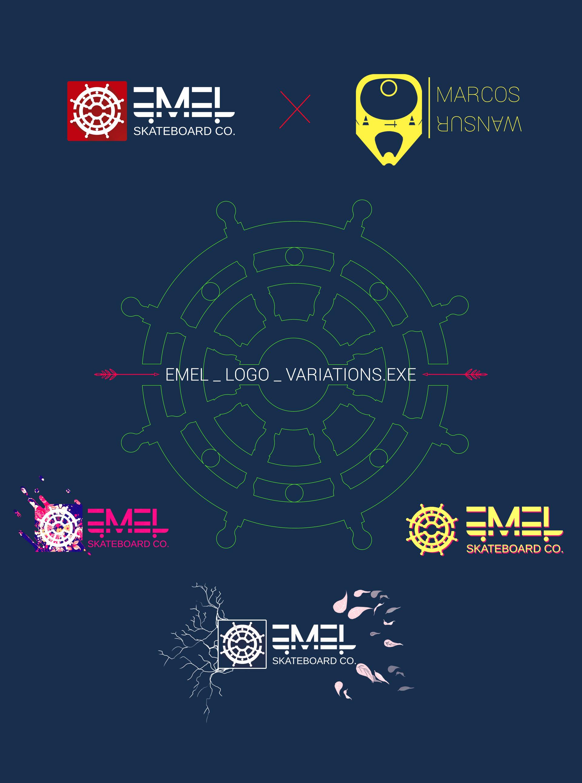 Marcos mansur logo tipo adptedes process