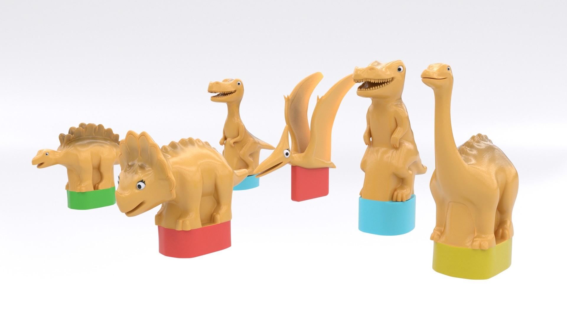 Dinosaurs plastic toys
