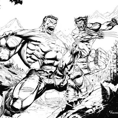 Cam adams hulk wolverine inks sprex artstation