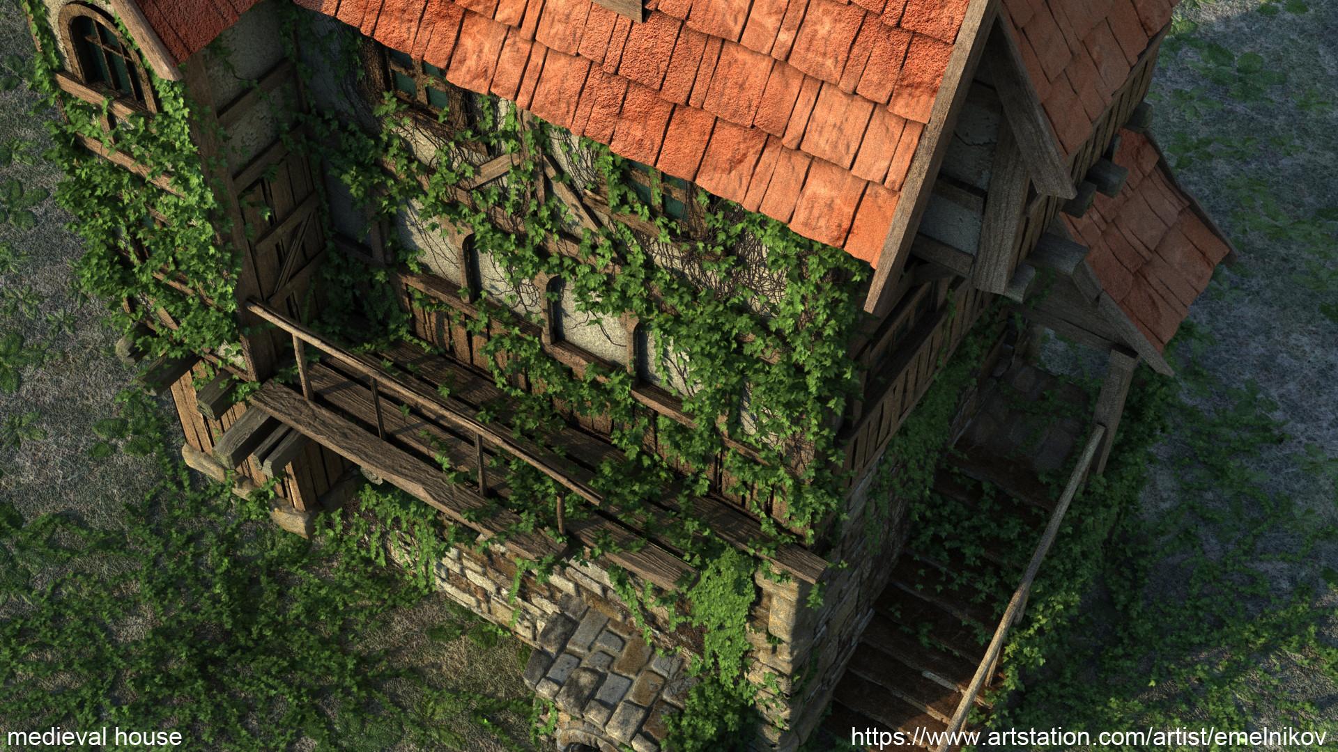 Eugene melnikov medieval house1 render frm2
