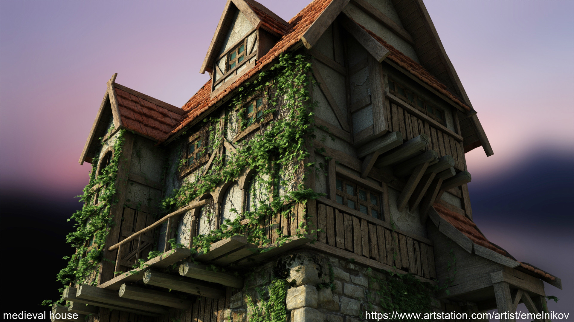 Eugene melnikov medieval house1 render frm3
