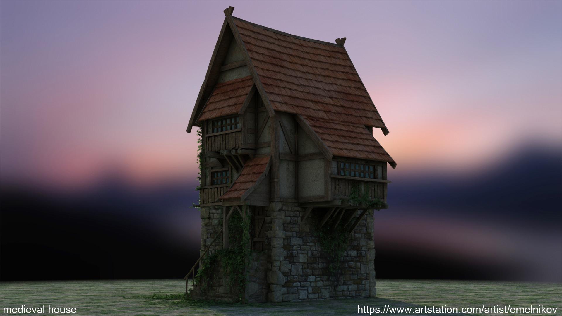 Eugene melnikov medieval house1 render frm5
