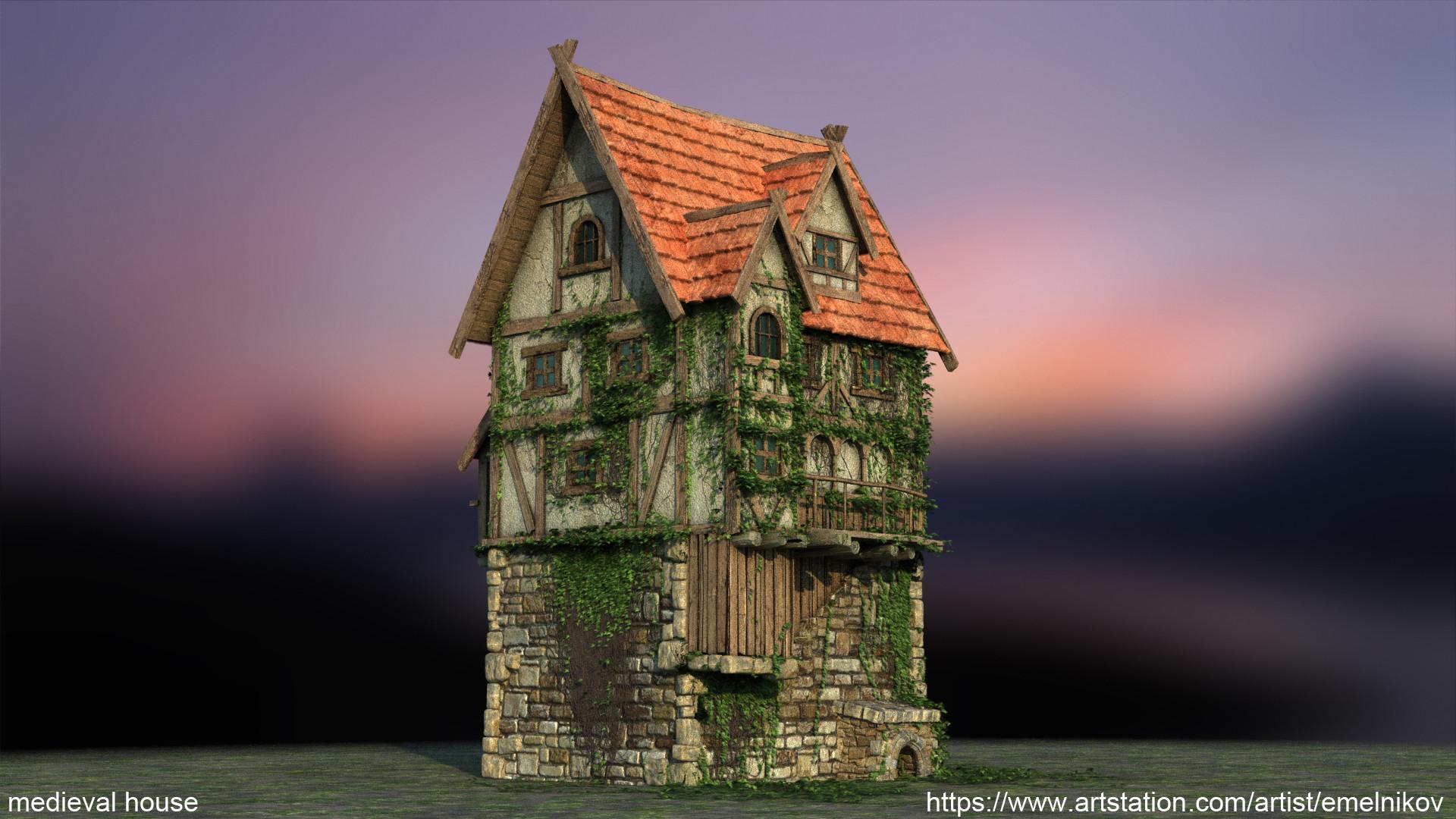 Eugene melnikov medieval house1 render frm7