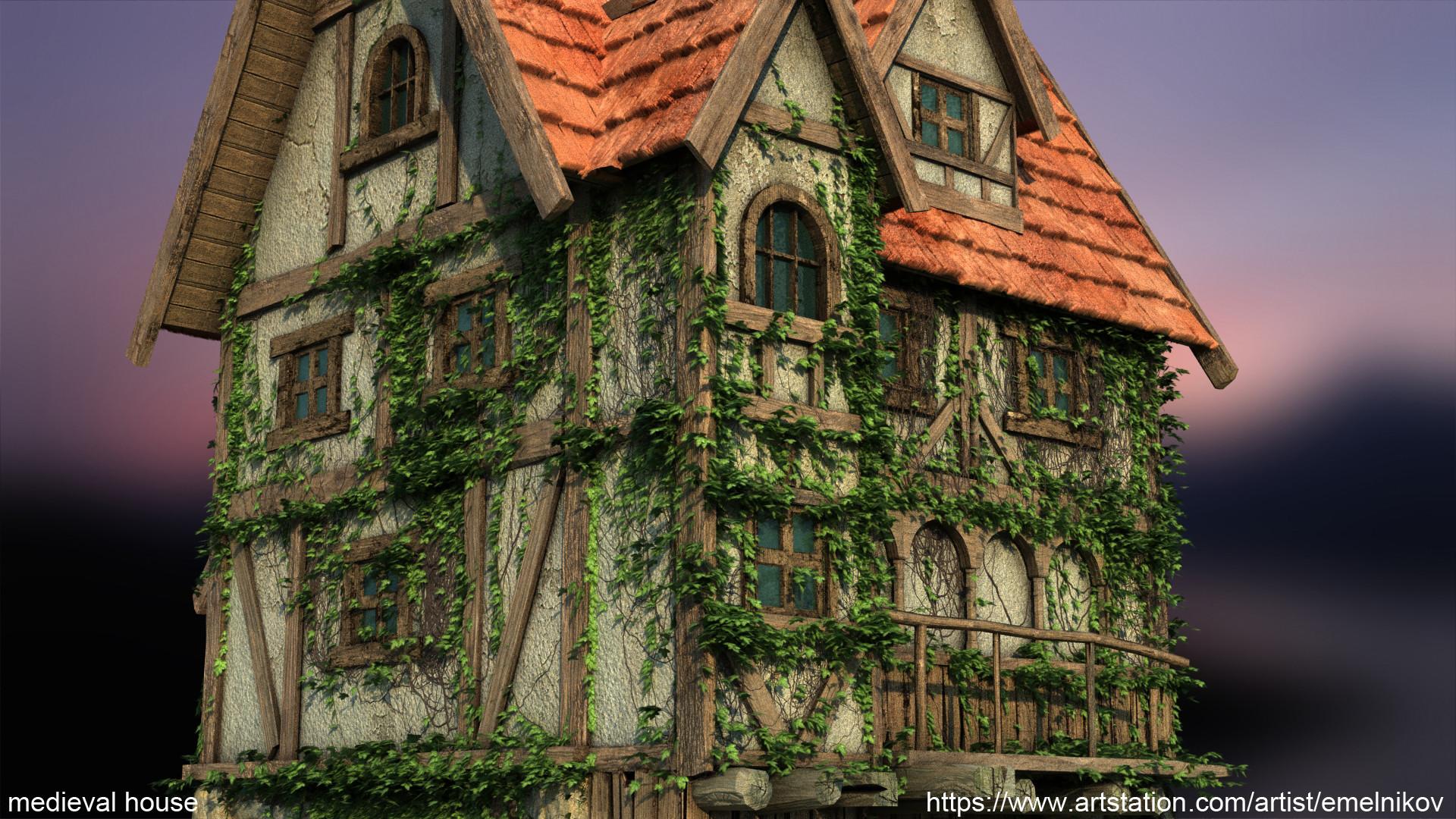 Eugene melnikov medieval house1 render frm8