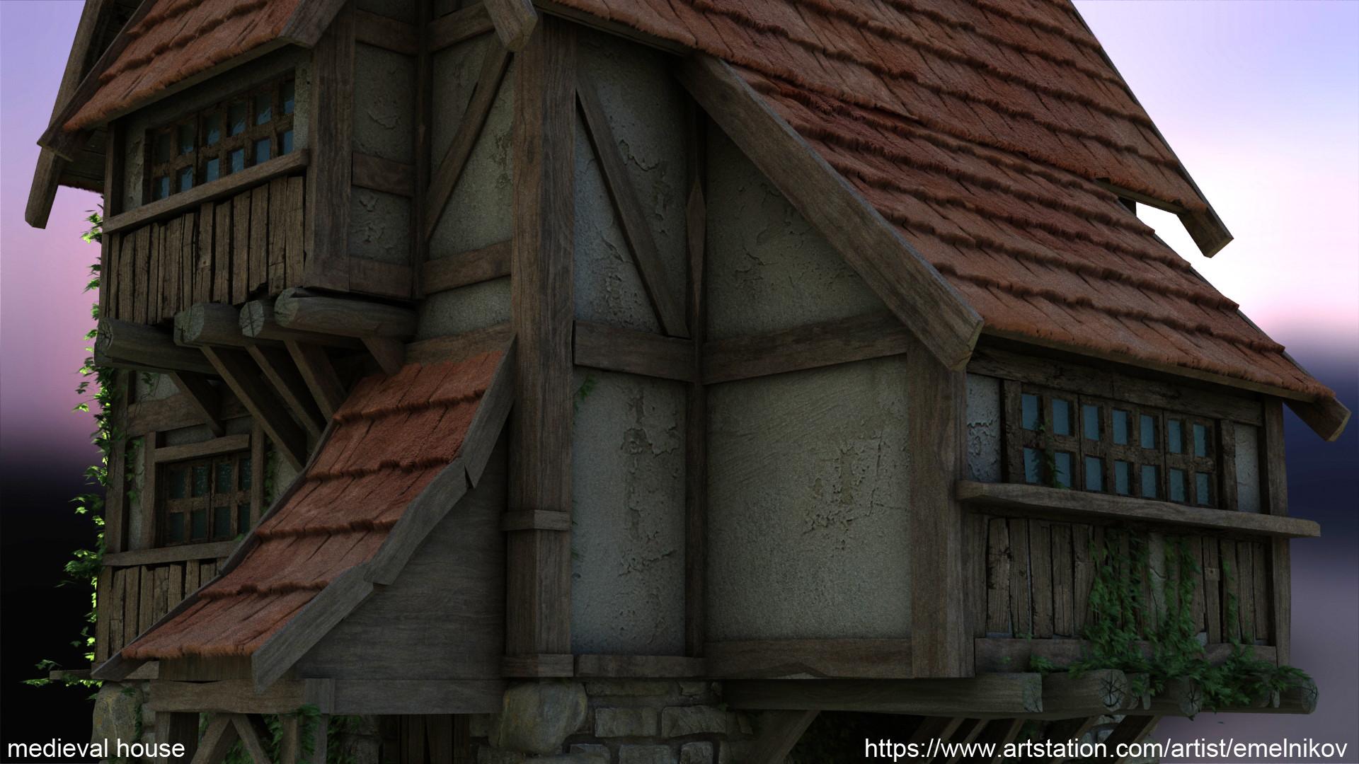 Eugene melnikov medieval house1 render frm9