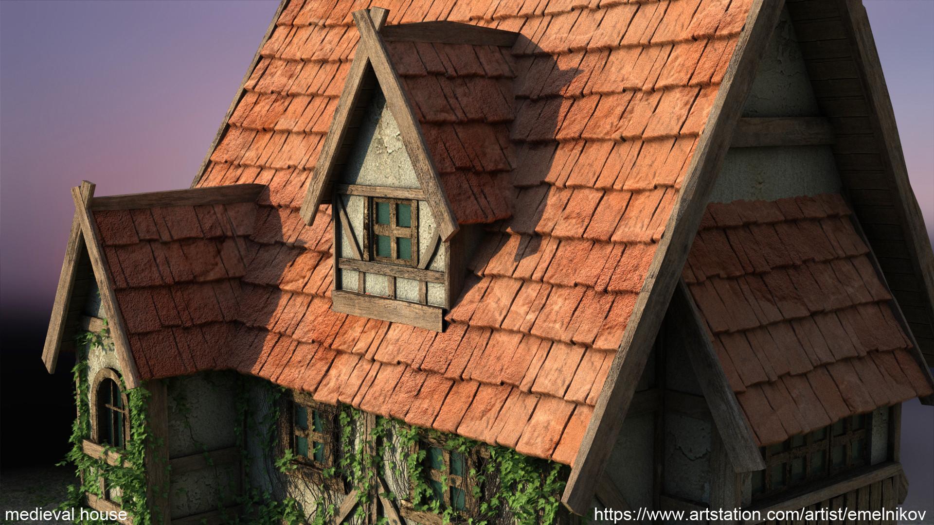 Eugene melnikov medieval house1 render frm10