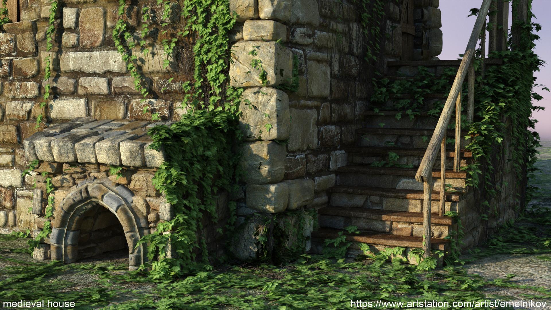 Eugene melnikov medieval house1 render frm11