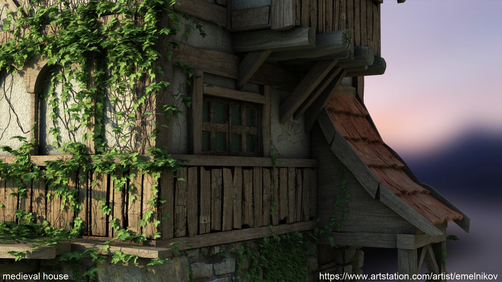 Eugene melnikov medieval house1 render frm12