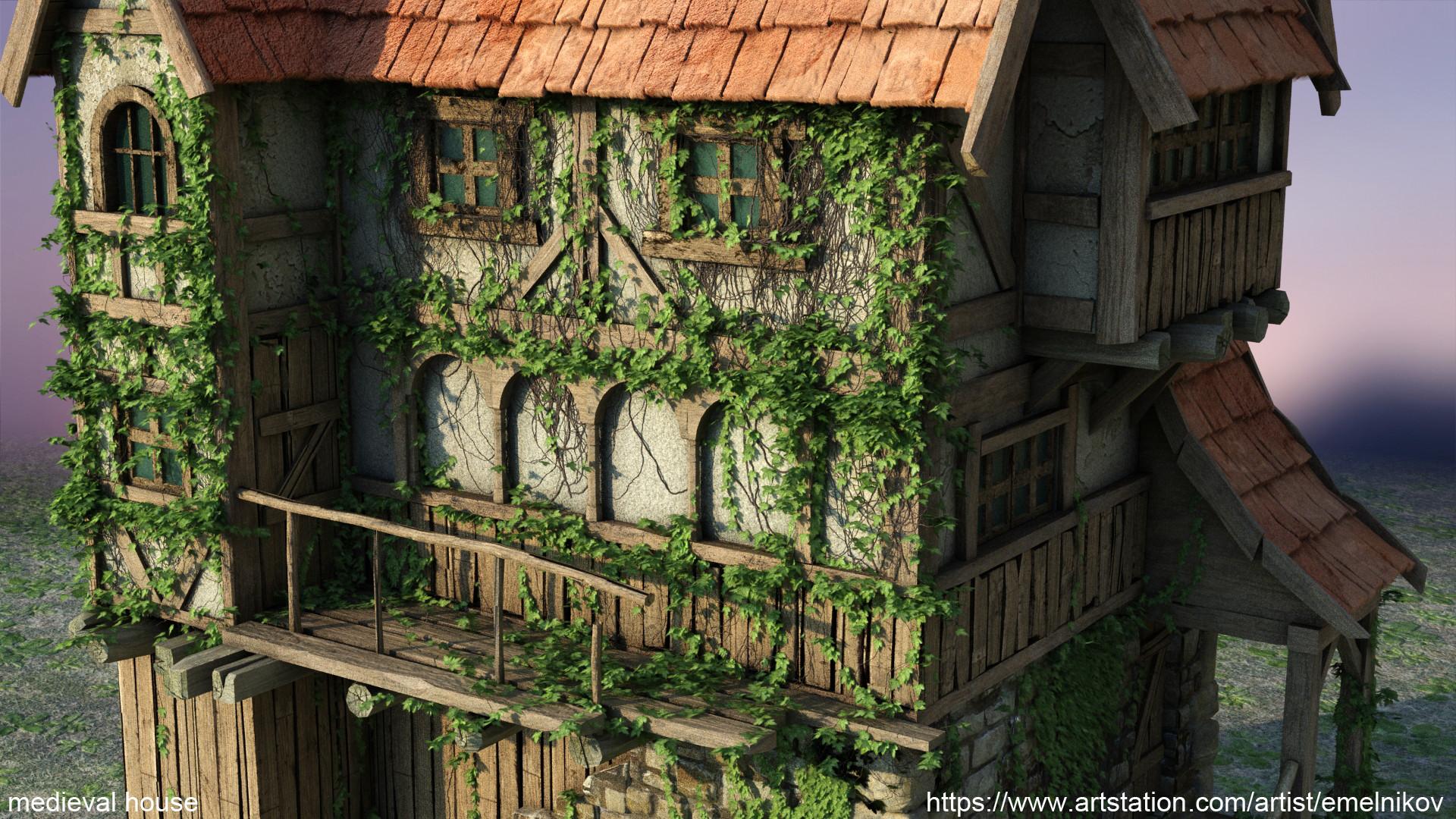 Eugene melnikov medieval house1 render frm14