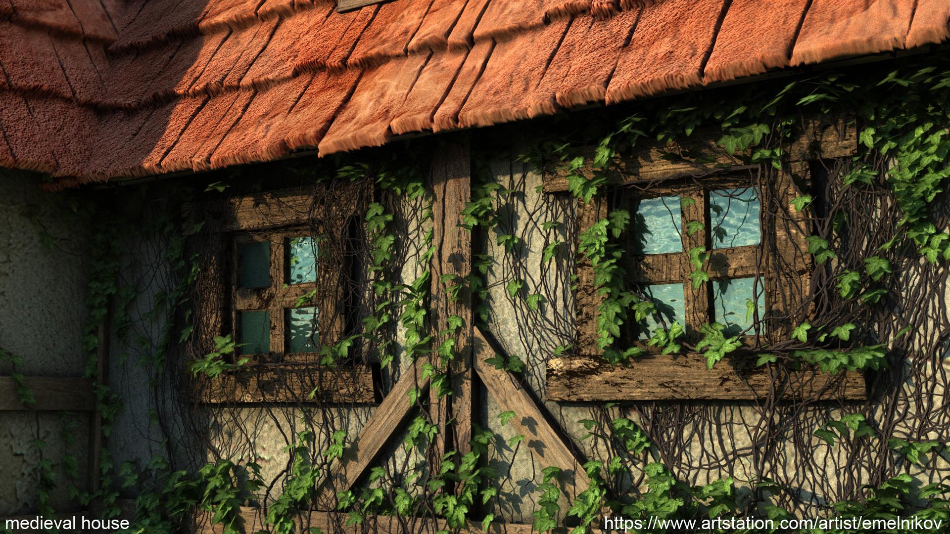 Eugene melnikov medieval house1 render frm15