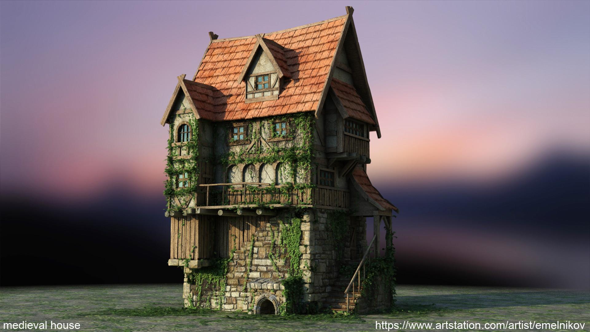 Eugene melnikov medieval house1 render frm0