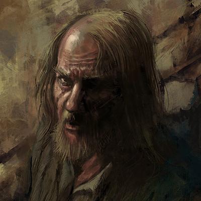 Murat gul oldman portrait by muratgul