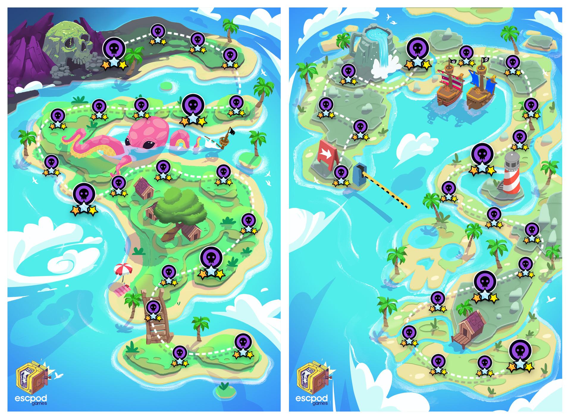 Pirate  Pop Mega Quiz Game Maps
