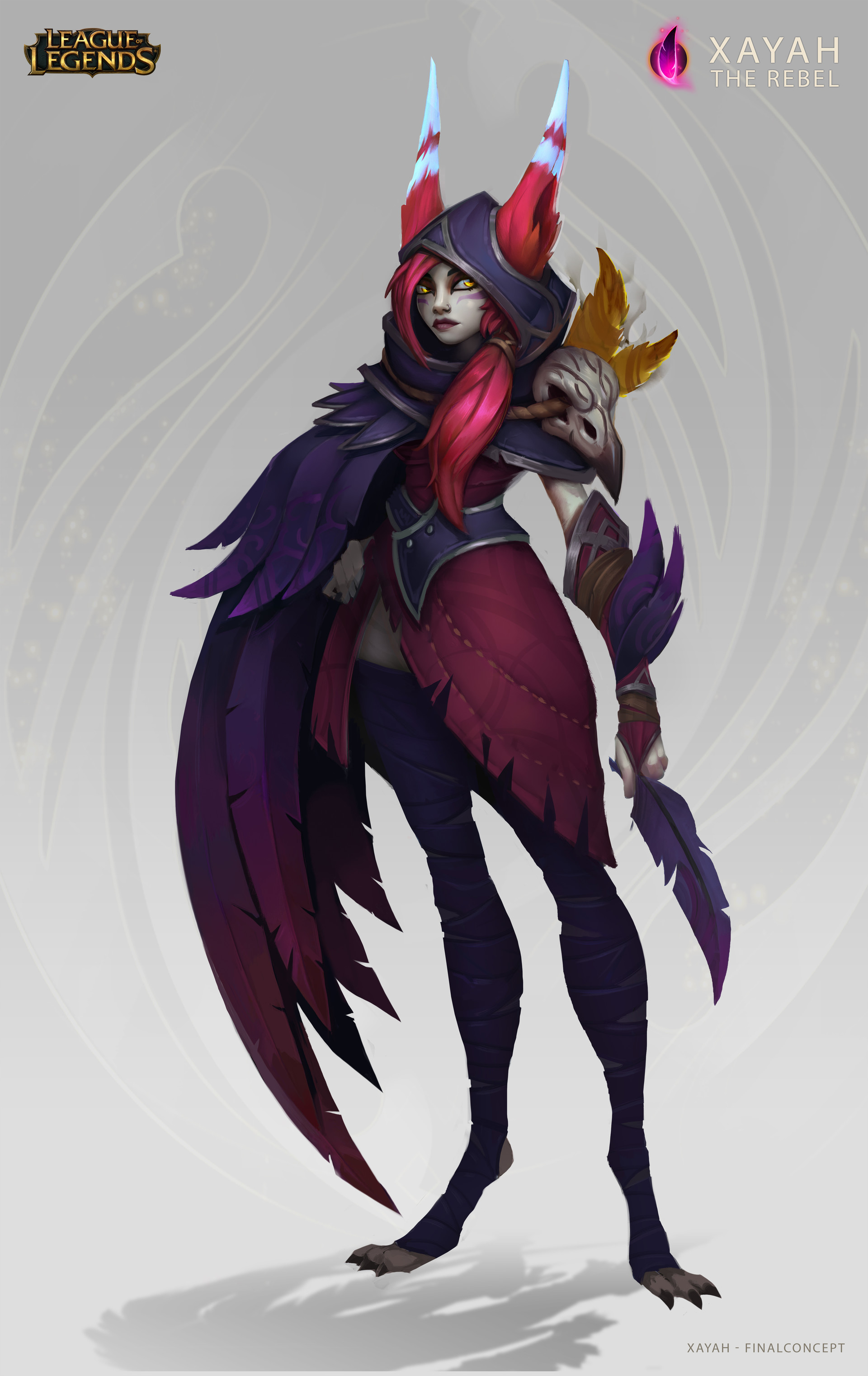 Xayah the Rebel - Concept Art- League of Legends