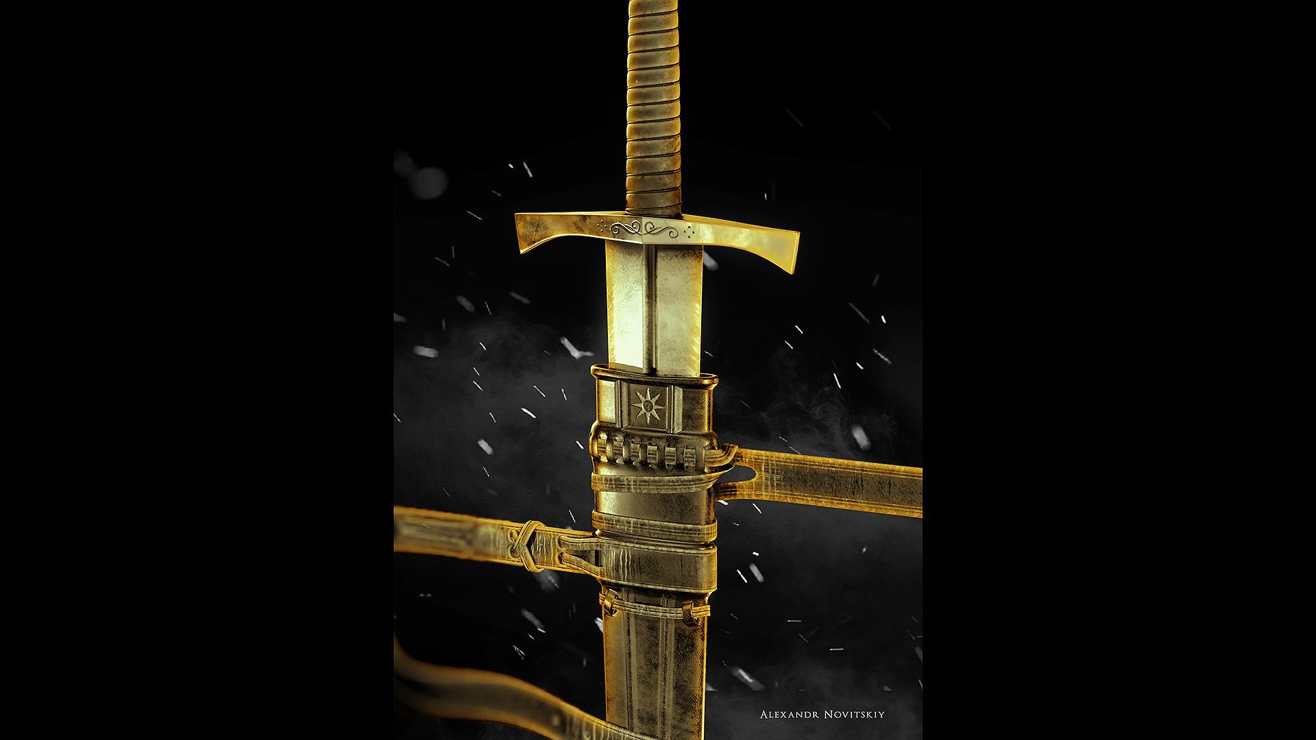 Alexandr novitskiy dark knight sword style 03
