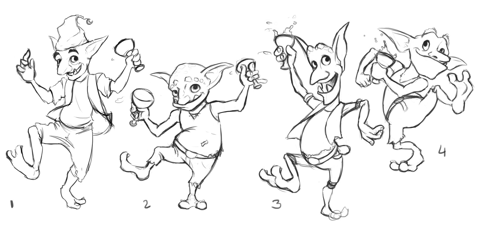 Victoria march sketches goblin