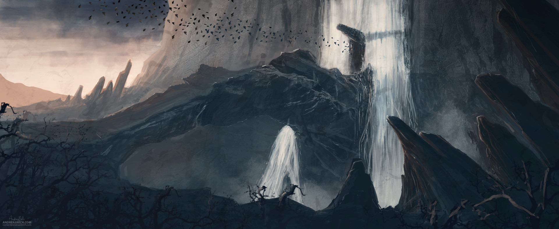 Andreas bech batcave sketch 3000pxw