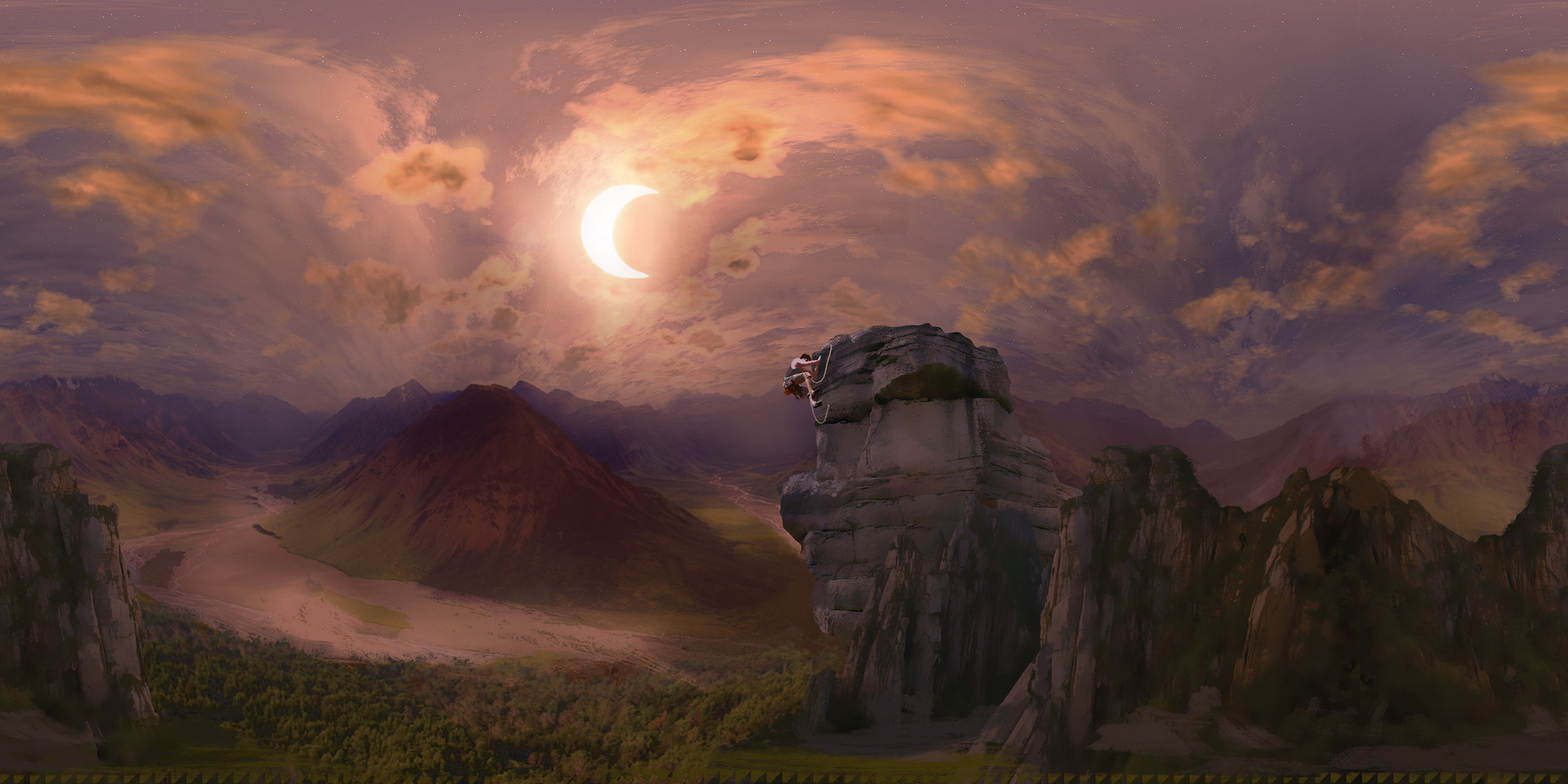 Alejandro gonzalez eclipse 360 painting