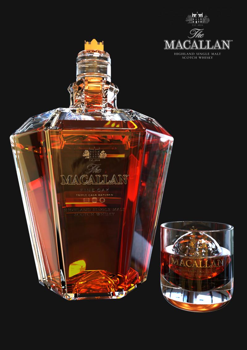 Callum whitehex macallan tube whiskey glasses oops