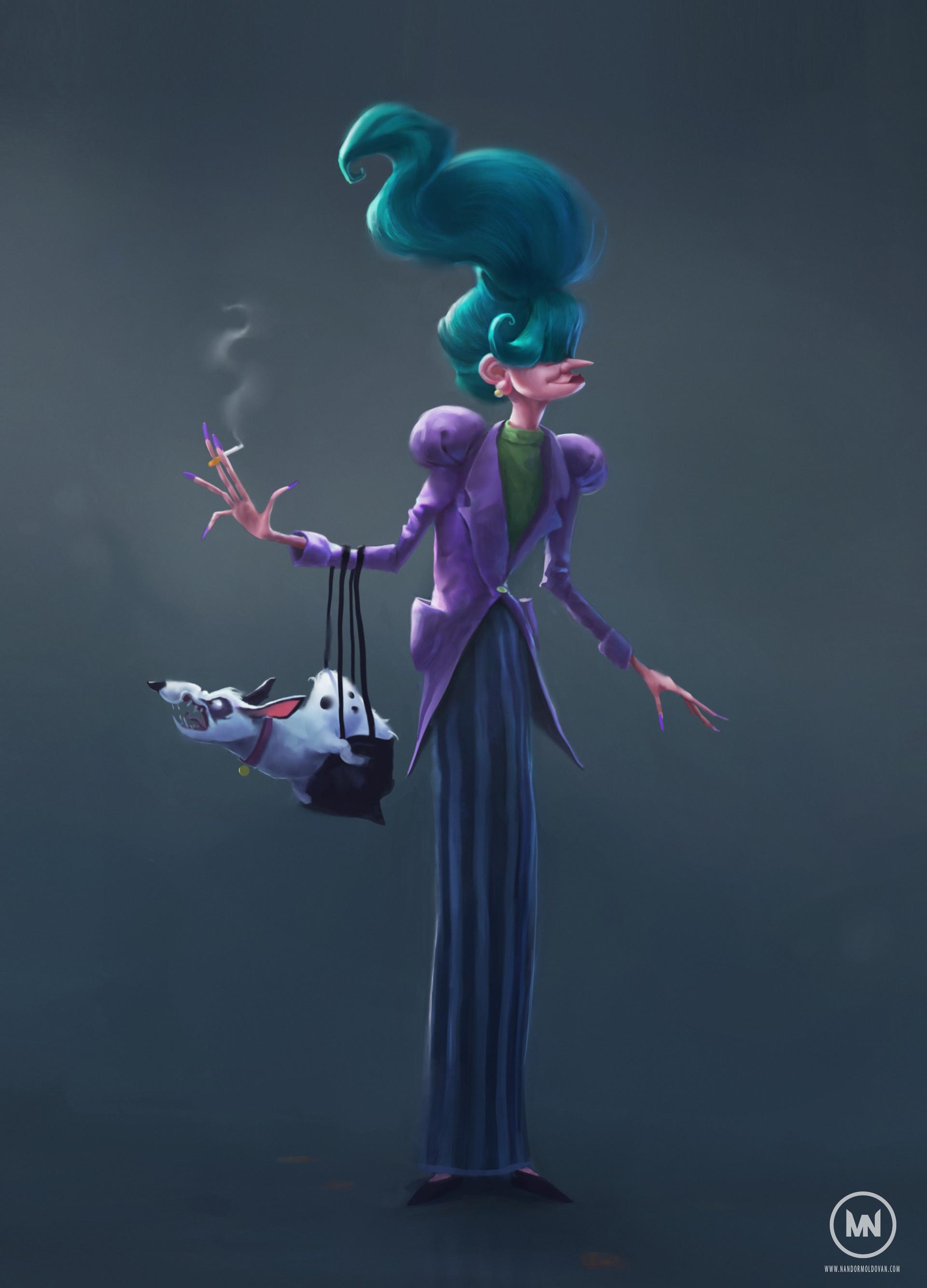 Nandor moldovan eccentric lady character design nandor moldovan