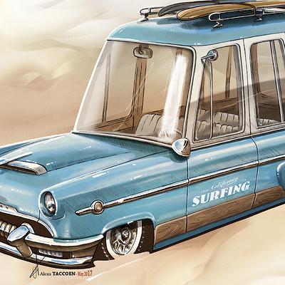 Alexis taccoen surf wagon mercury 54 low