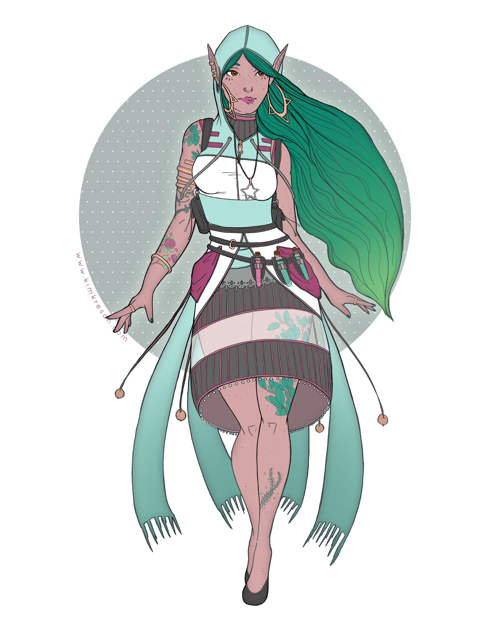 Kim kresan green elf mage