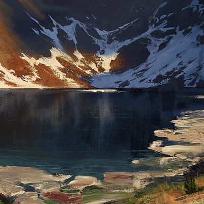 Greg rutkowski mountains study 2 2