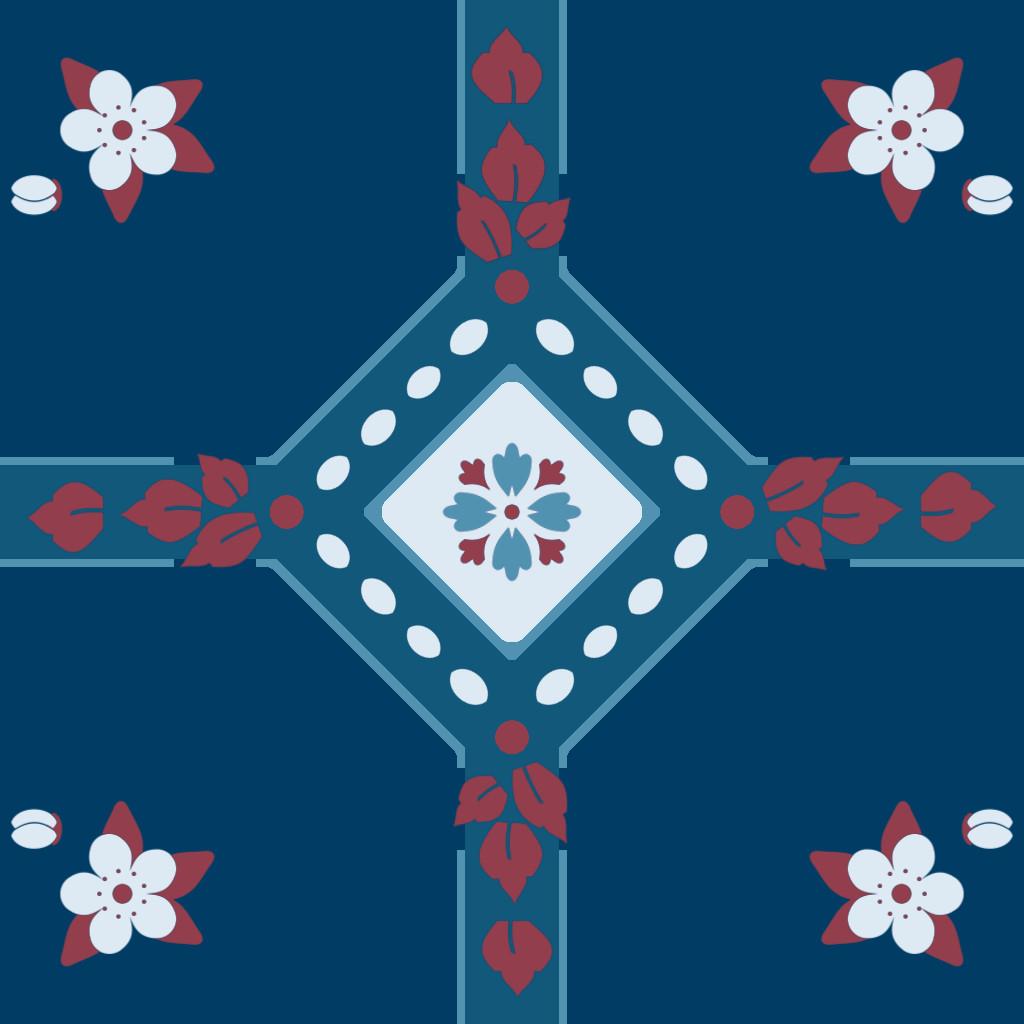 Alex schwartz flower tile pattern