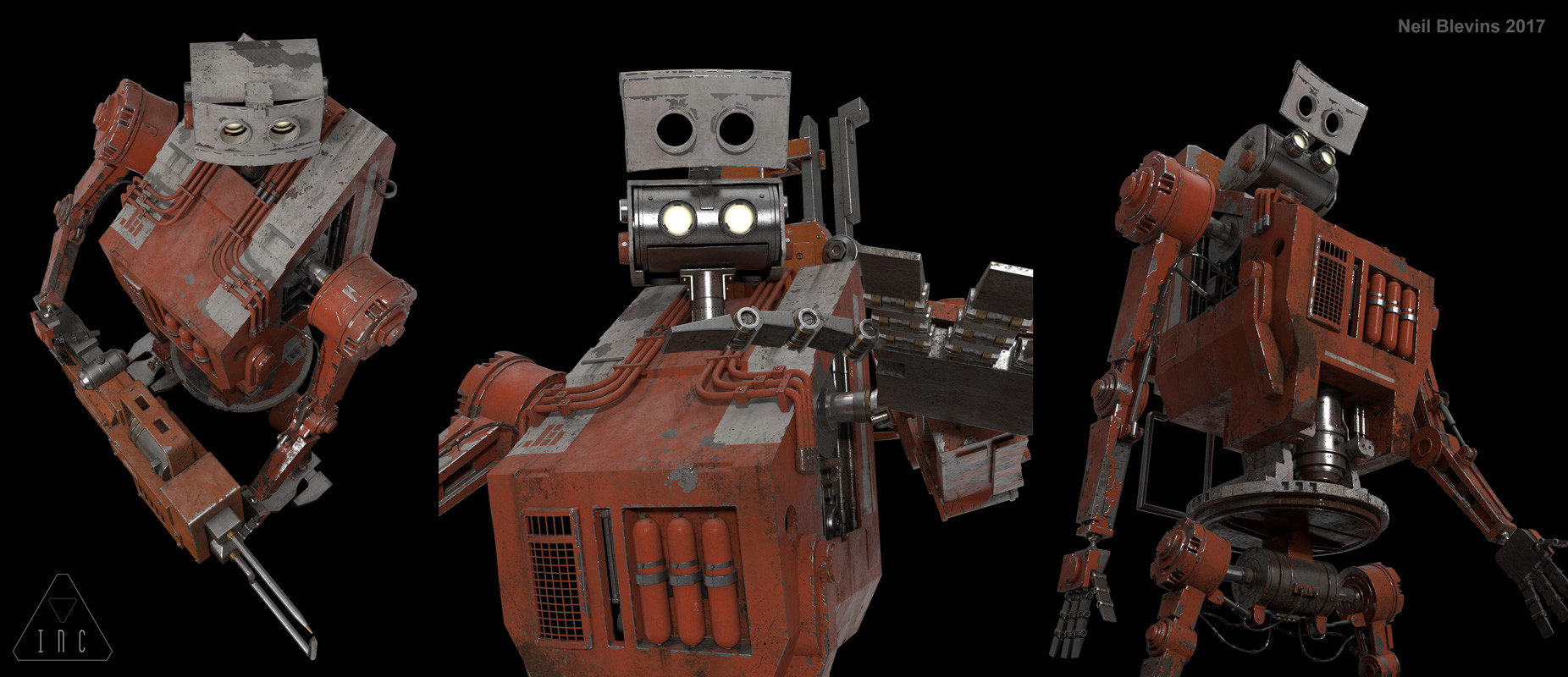 Neil blevins inc the robot 14 textured poses2