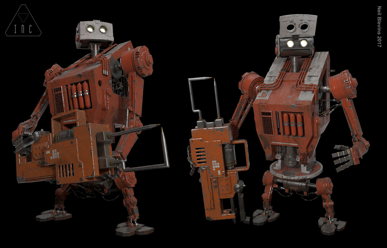 Neil blevins inc the robot 14 textured poses1