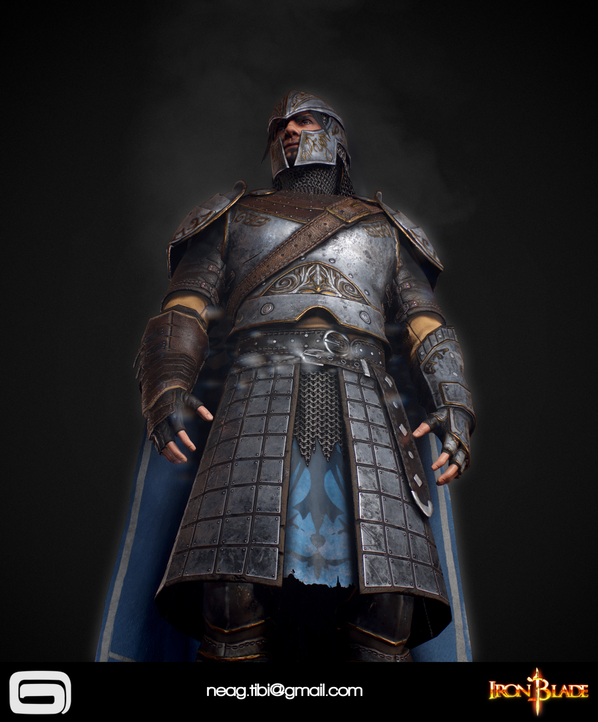 Tibi neag tibi neag iron blade mc armor 09c low poly 06