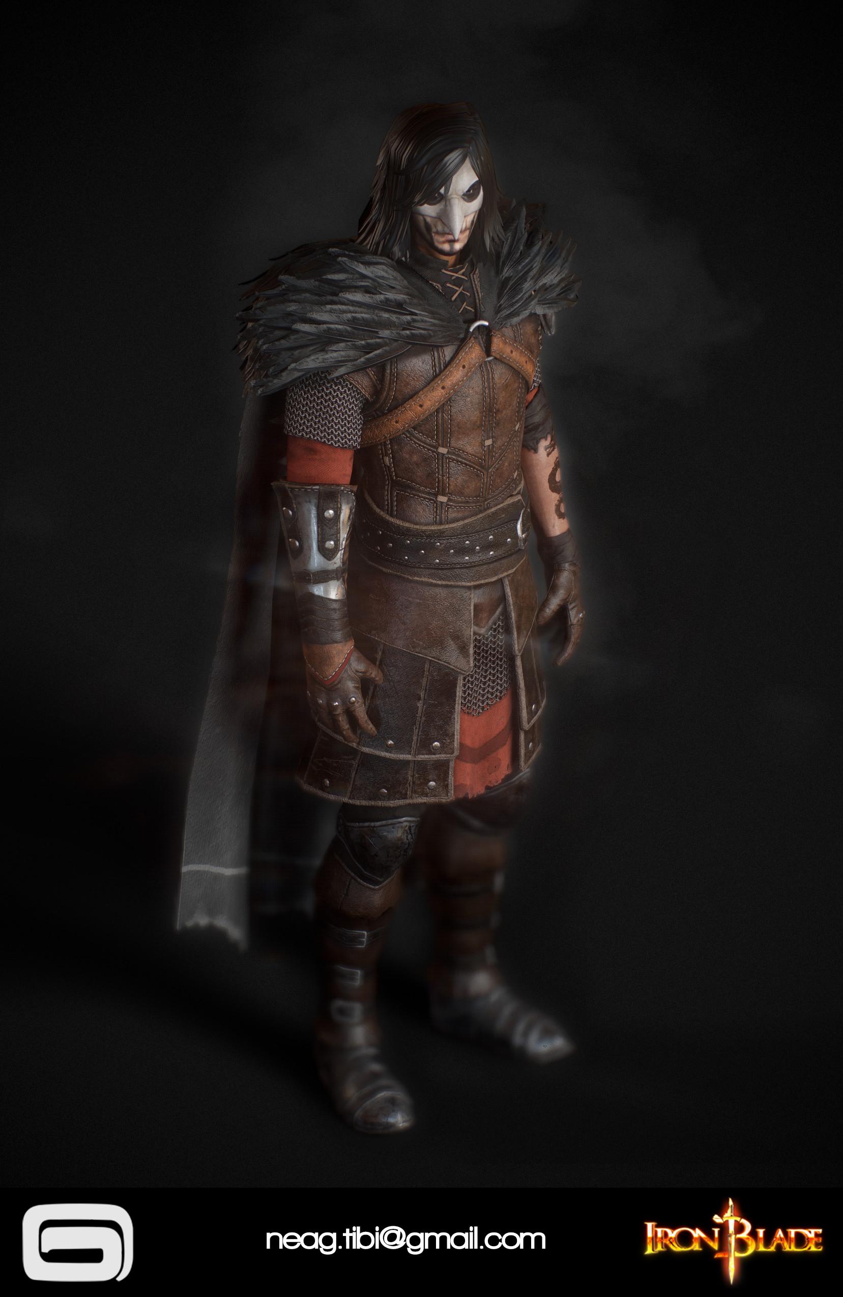 Tibi neag tibi neag iron blade mc armor 11b low poly 03